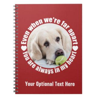 YOUR PHOTO Far Apart Love custom notebook