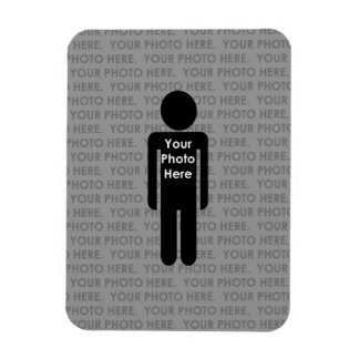 Your Photo Here Custom Vertical Magnet Rectangle Magnets