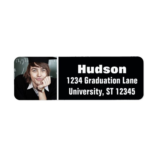 Your Photo Here Personalized Graduation Return Address Label