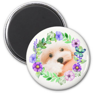Your Photo in a Flower Frame magnet