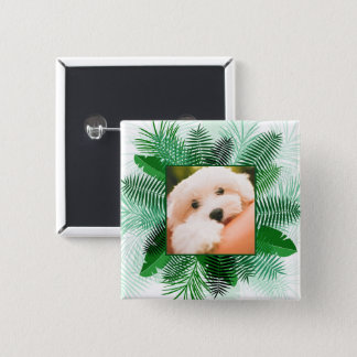 Your Photo in a Palm Leaf Frame custom buttons