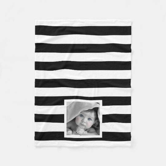 Your Photo Stripes Fleece Blanket