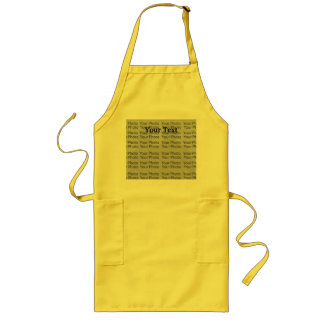 Your Photo Text Long Yellow Apron Template