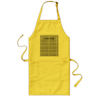 Your Photo Text Long Yellow Apron Template 2