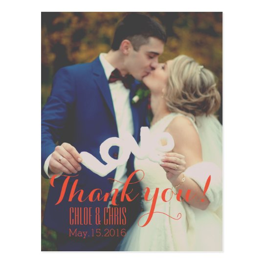 Your Photo Thank You Card Postcard