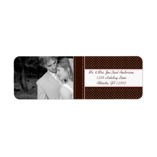 Your Photo Wedding Deep Brown & Pink Dots