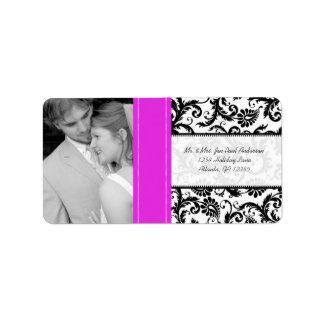 Your Photo Wedding Vintage Hot Pink Damask