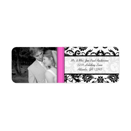Your Photo Wedding Vintage Pink Damask