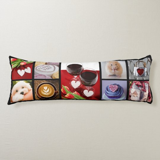 YOUR PHOTOS custom collage template body pillow