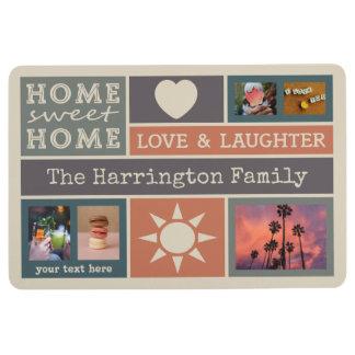 YOUR PHOTOS custom collage template floor mat
