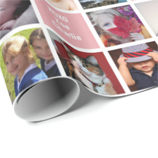 Your Photos | Custom Grandma 51-Image Collage Gift Wrapping Paper