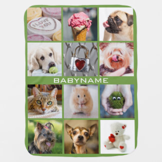 YOUR PHOTOS custom template baby blanket