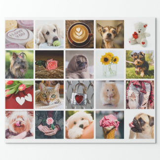 YOUR PHOTOS custom template wrapping paper