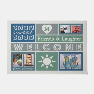 YOUR PHOTOS & MONOGRAM custom dorm room door mat