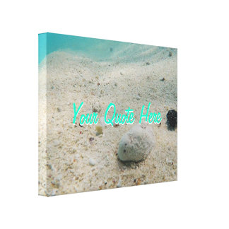 Your Quote Here | Tropical Underwater Sand Canvas Print