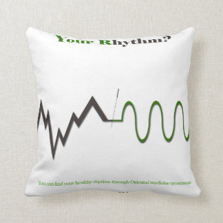 your rhythm? throw pillow