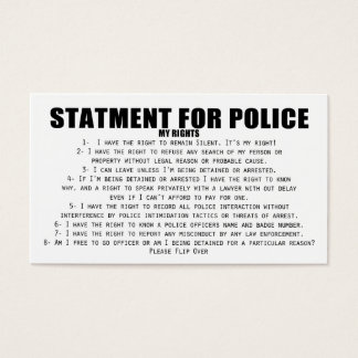 Your Rights Business Card