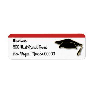 Your School Color Graduation Cap Monogram
