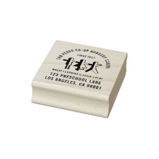Your School or Business Logo Address Rubber Stamp