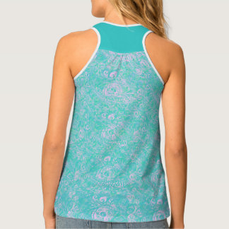Your Sea Blue Paisley Eyes by MJ Tank Top