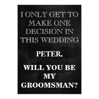 Your Service as a Groomsman Request Card