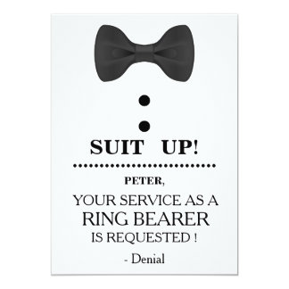 Your Service as a Ring Bearer Request Card