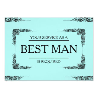 Your Service Is Requested as Best Man Groomsman Card
