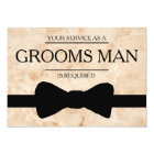 Your Service Is Requested as Bestman Marble back Card