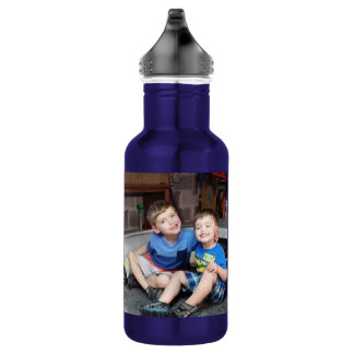 Your sibling photo water bottle