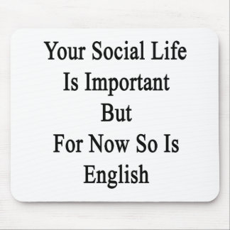 Your Social Life Is Important But For Now So Is En Mouse Pad