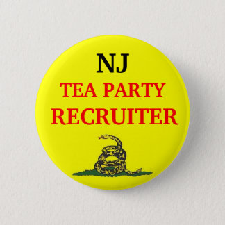 Your State TEA PARTY RECRUITER 2 Inch Round Button