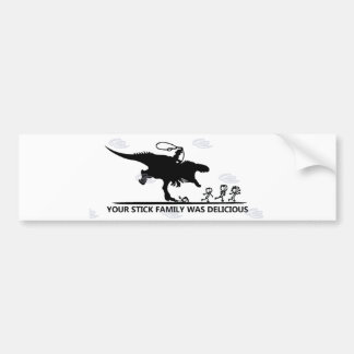 Your Stick Family/T-rex Bumper Sticker