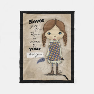 Your Story -Girl with Pen and Ink Fleece Blanket