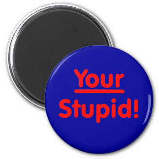 Your Stupid! Magnet