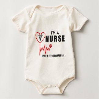 Your superpower nurse baby bodysuit