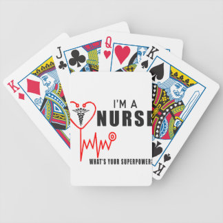 Your superpower nurse bicycle playing cards