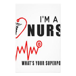 Your superpower nurse stationery