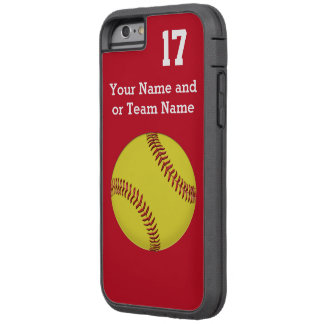 Your Team COLORS and TEXT Softball iPhone 6 Cases