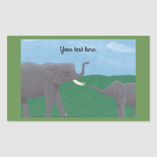 Your text, Elephant Stickers, Mother and Child Sticker