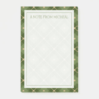 Your Text | Green Plaid Post-it Notes