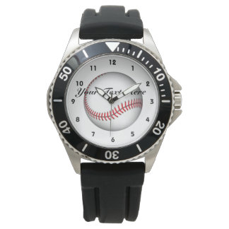 Your Text Here Baseball Watch
