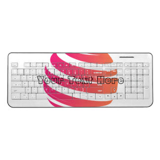 Your Text Here Custom Wireless Keyboard