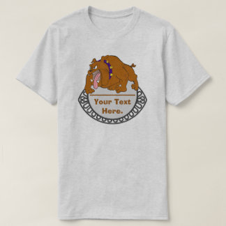 Your Text Here Dog and Dish T-Shirt