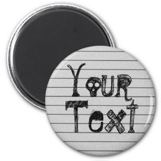 Your Text On Lined Paper Magnet