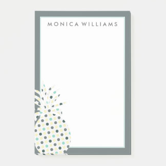 Your Text | Tropical Pattern Pineapple Post-it Notes