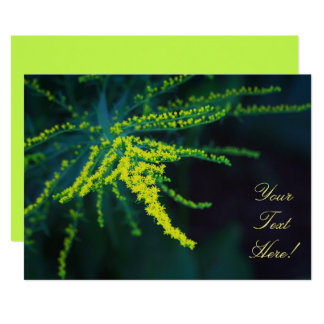 Your Text Yellow Flower Green Fern Invitation
