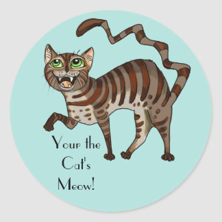 Your the Cat's Meow! Classic Round Sticker