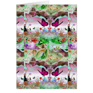 YOUR THOUGHTS - BUTTERFLIES IN THE GARDEN CARD