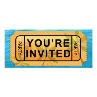 Your Ticket to Summer Fun Party Invite