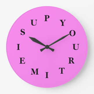 Your Time Is Up Violet Round Clock by Janz